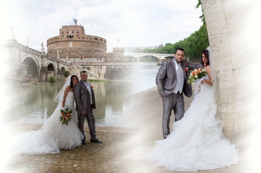 Fotografo di Matrimonio a roma servizio fotografico a Castel Sant'Angelo